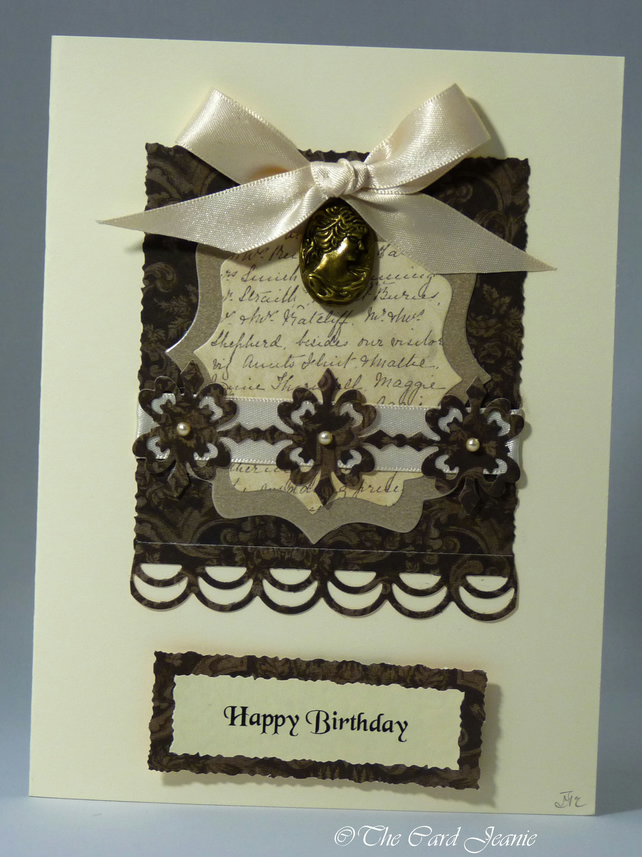 Handmade Card - Birthday Cameo