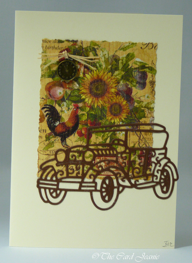 Handmade Card - Vintage Country Car