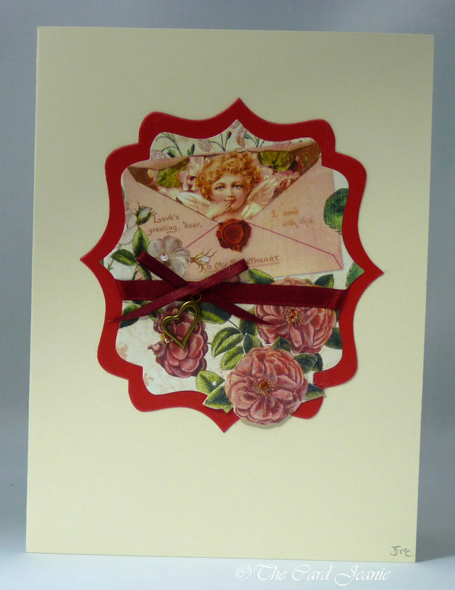 Handmade Valentine's Card - My Little Cherub