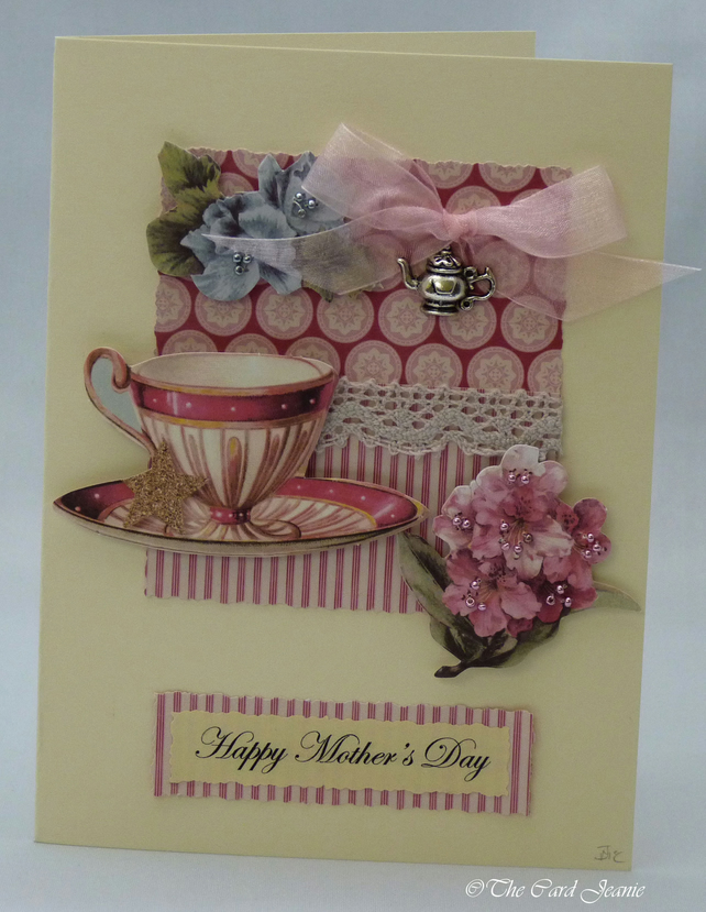 Handmade Mother's Day Card - Afternoon Tea No. 2