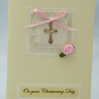 Handmade Card - Girl's Christening Card No. 1
