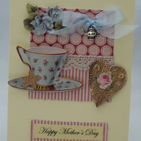 Handmade Mother's Day Card - Afternoon Tea No. 1