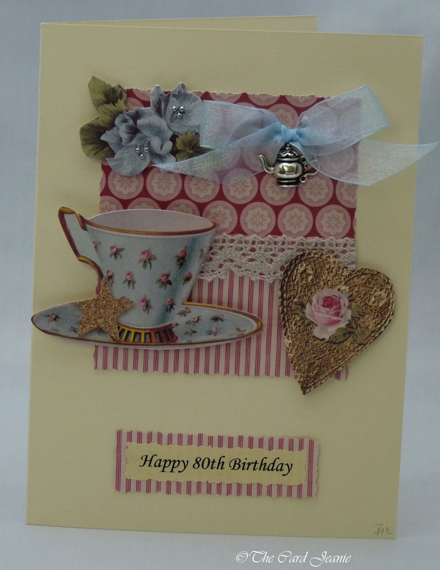 Handmade Card - Afternoon Tea No. 1