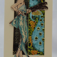 Handmade Card - Exotic Lady