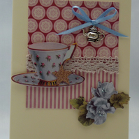 Handmade Card - Afternoon Tea No. 3