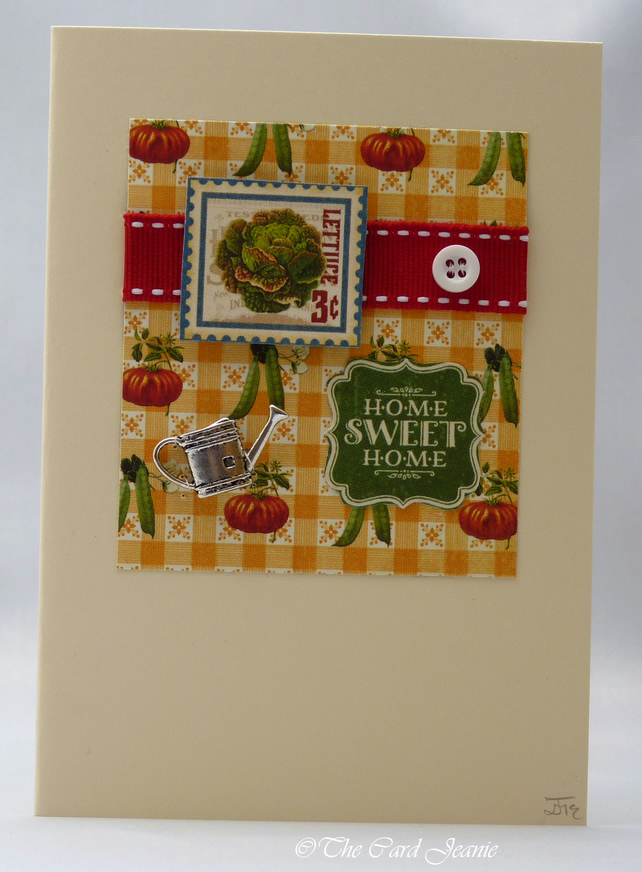 Handmade Card - Kitchen Garden