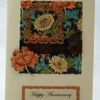 Handmade Card - Lillies and Chrysanthemums