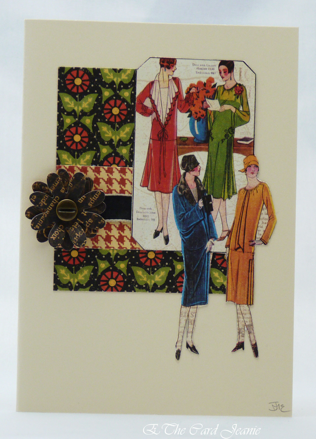 Handmade Card - Fashionable Ladies