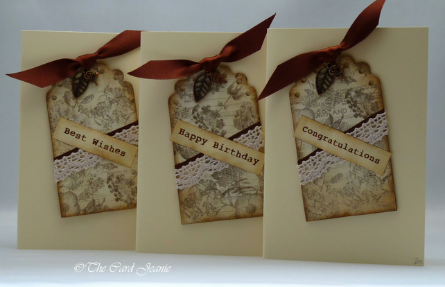 Handmade Cards - Autumn Leaves