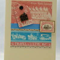 Handmade Card - Vintage Travel
