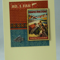 Handmade Card - Sports Car Racing Fan