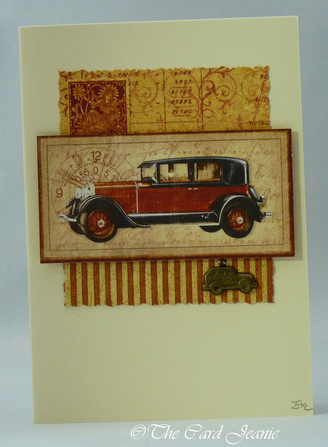 Handmade Card - Vintage Cars No. 2