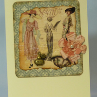 Handmade Card - Nostalgic Ladies