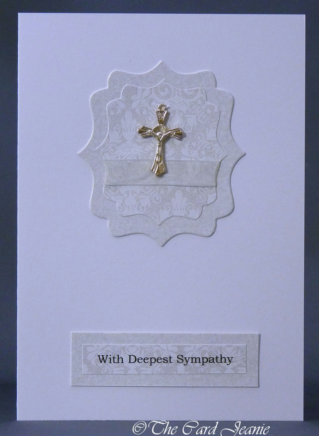 Handmade Card - With Deepest Sympathy
