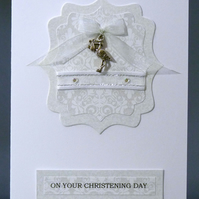 Handmade Card - Christening