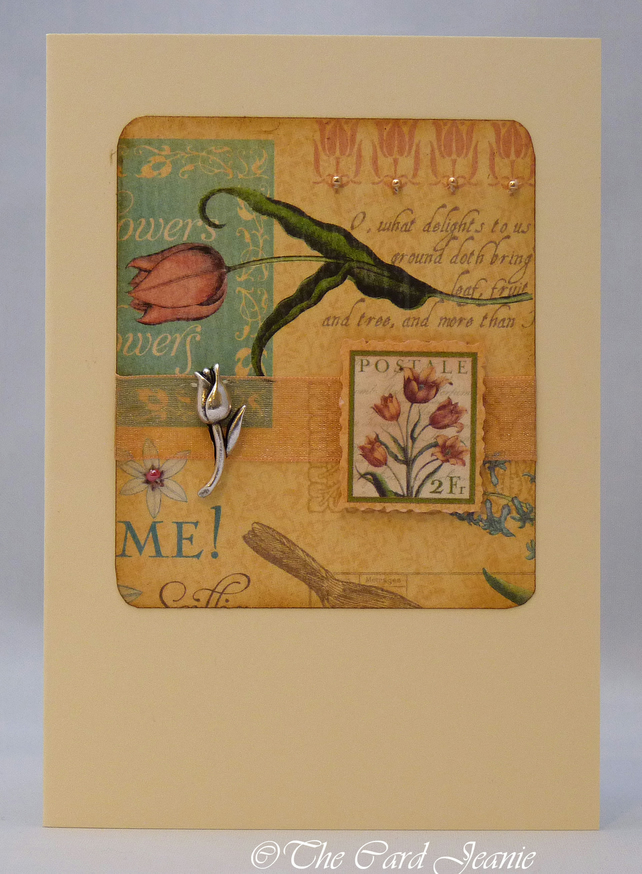 Handmade Card - Art Deco Tulips