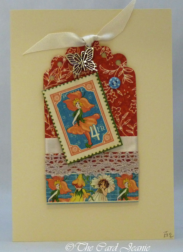 Handmade Card - Little Flower Girl No. 1