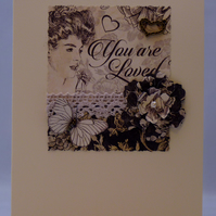 Handmade Card - Lovely Lady