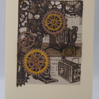 Handmade Card - Steampunk Photographer