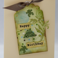 Handmade Card - Birthday Frog