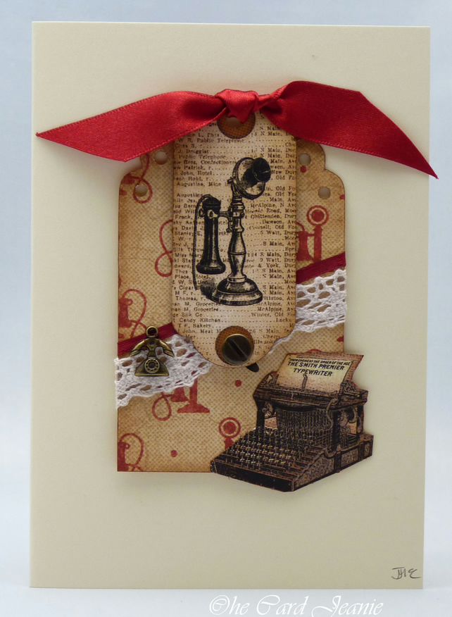 Handmade Card - Retro Technology