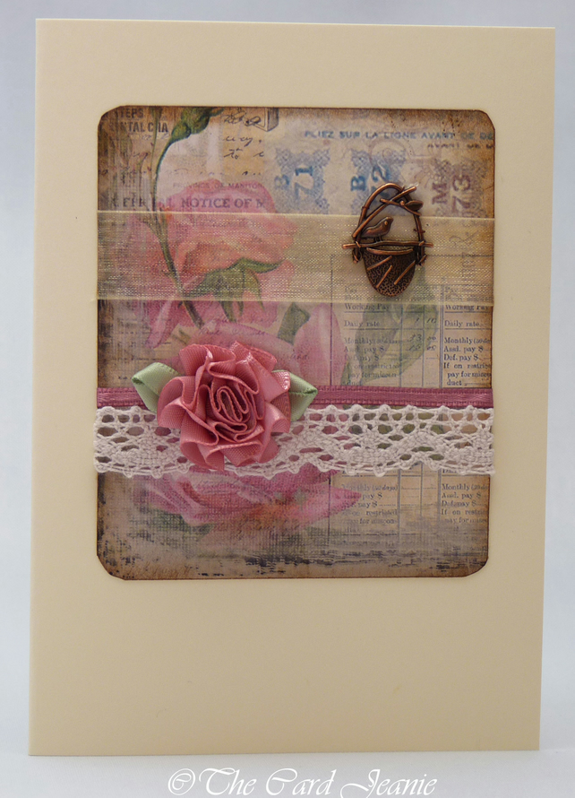 Handmade Card - Old Roses