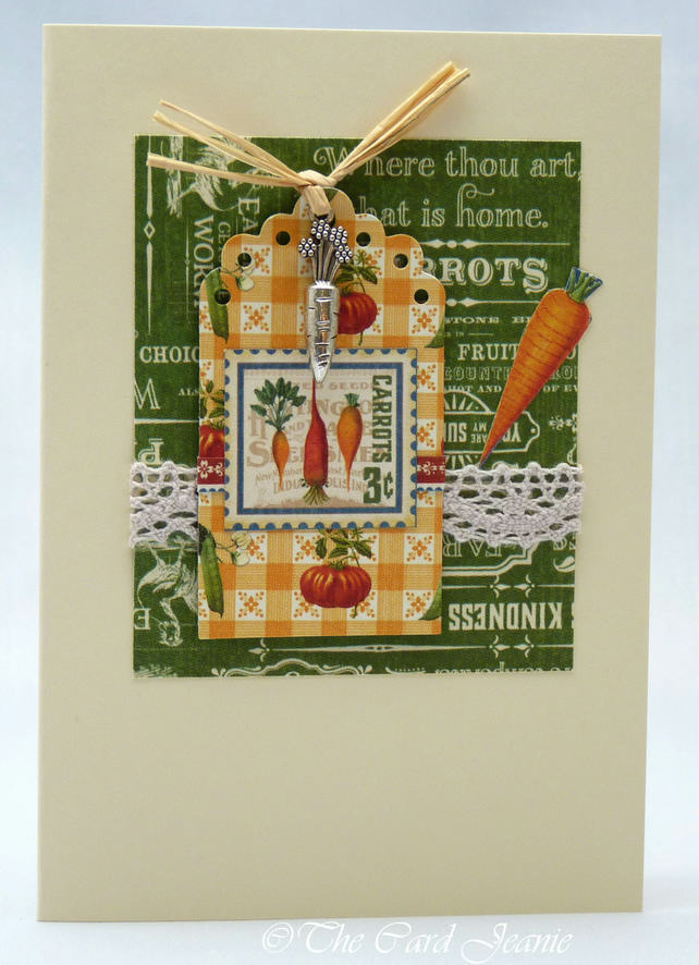 Handmade Card - Vegetable Patch