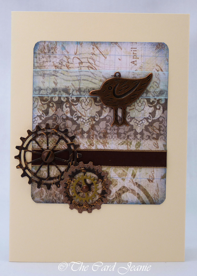 Handmade Card - Steampunk Bird