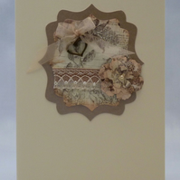 Handmade Card - Vintage Beauty