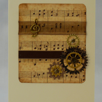 Handmade Card - Steampunk Music