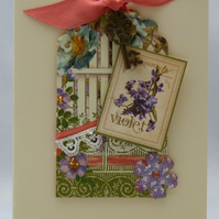 Handmade Card - Secret Garden No. 1