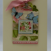 Handmade Card - Exotic Flowers No. 2