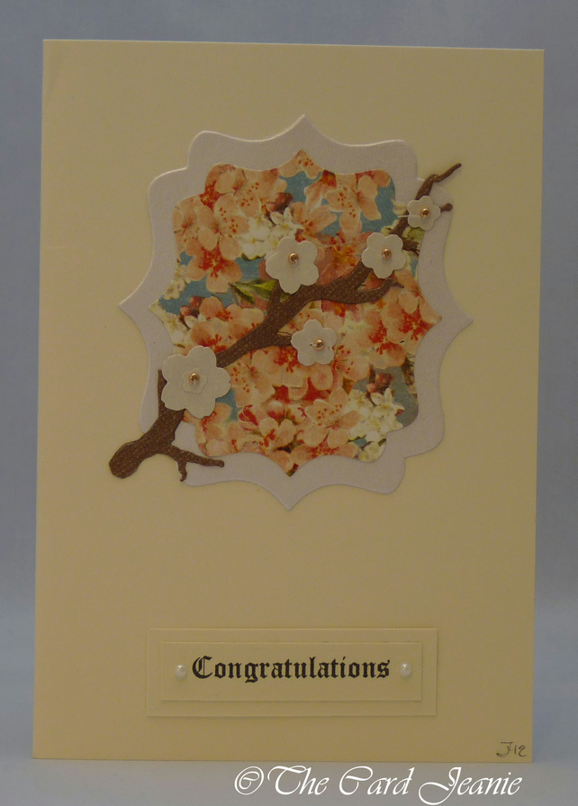 Handmade Card - Cherry Blossoms No. 1