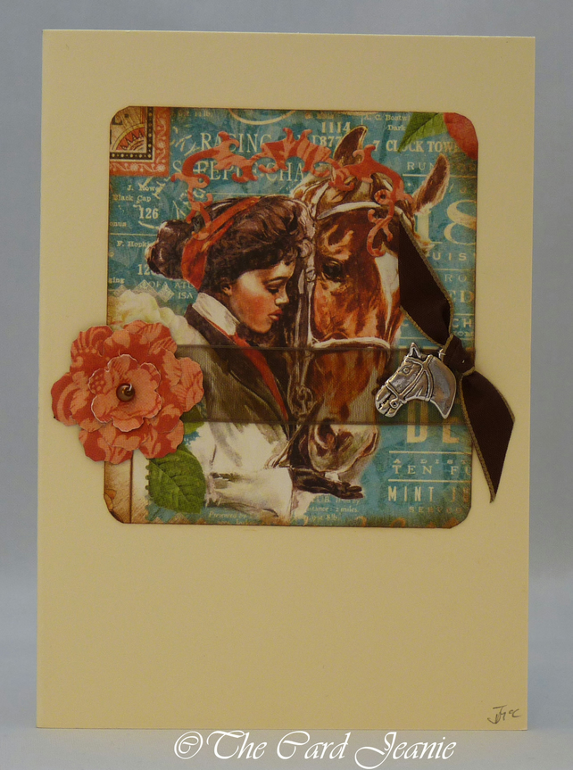 Handmade Card - Champion Racehorse