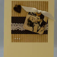Handmade Card - The Kiss