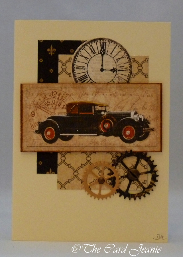Handmade Card - Vintage Drive Time