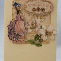 Handmade Card - Gilded Lady No. 1