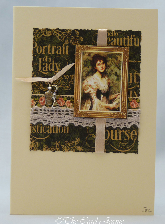 Handmade Card - Portrait of a Lady No. 1
