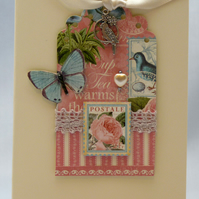 Handmade Card - Butterflies and Roses No. 1