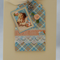 Handmade Card - New Baby Girl No. 2