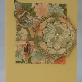 Handmade Card - Pretty Parasol