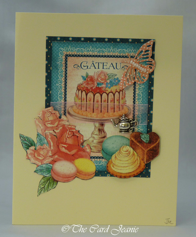 Handmade Card - Patisserie