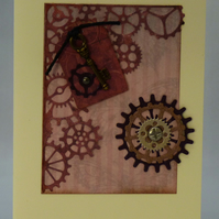 Handmade Card - Steampunk Birthday No. 2