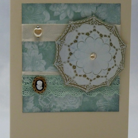 Handmade Card - Cameo and Parasol