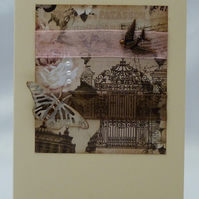 Handmade Card - Sepia Collection No. 1
