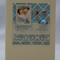 Handmade Card - Twin Boys
