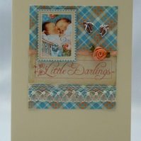 Handmade Card - Twin Girls