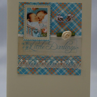 Handmade Card - Twins Boy and Girl