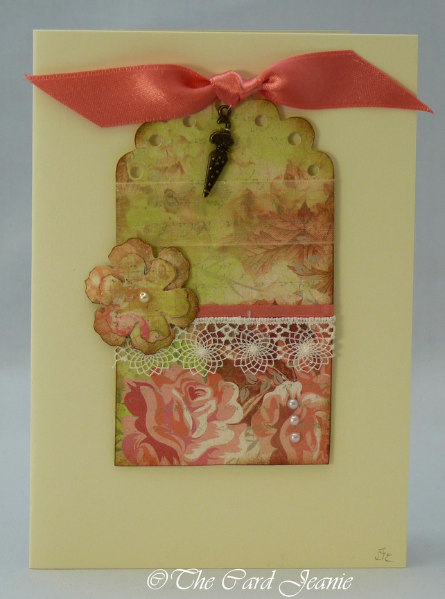 Handmade Card - Parasols and Lace No. 2