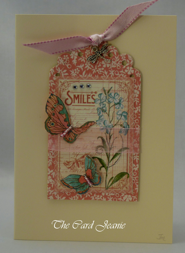 Handmade Card - Smiles and Butterflies